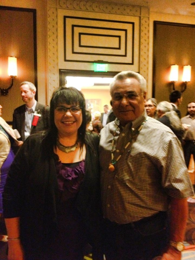 Traci Morris with Chickasaw Lt. Gov. Keel